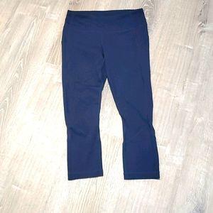 Lululemon Athletica navy blue leggings capris